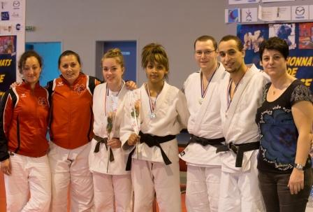 Triples champions de France et Vices championnes de France Jujitsu