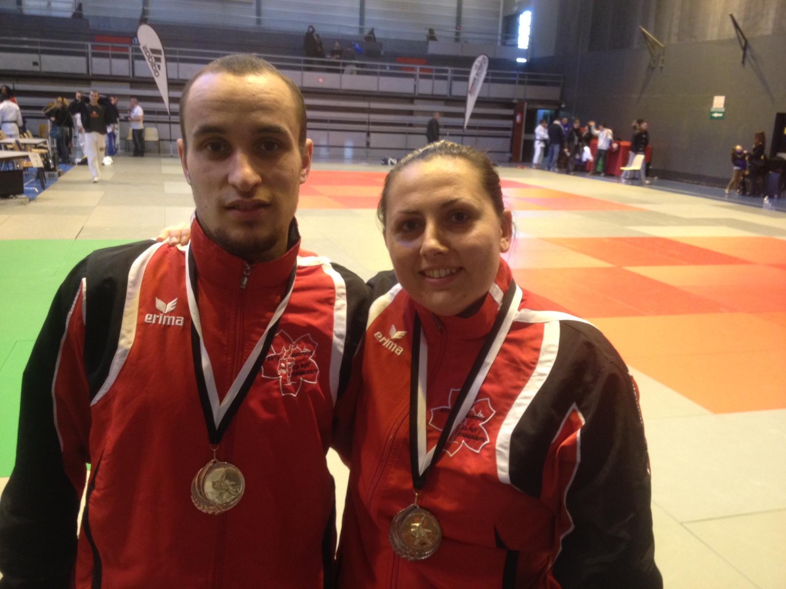 Deux podiums au tounoi National Jujitsu de Marseille