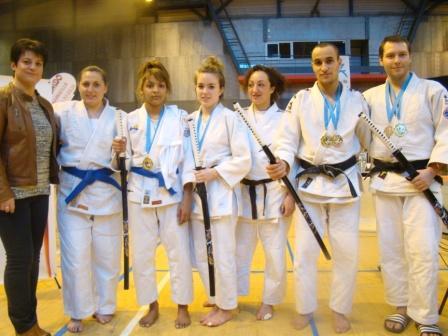 Des médailles au tournoi National Jujitsu de Marseille