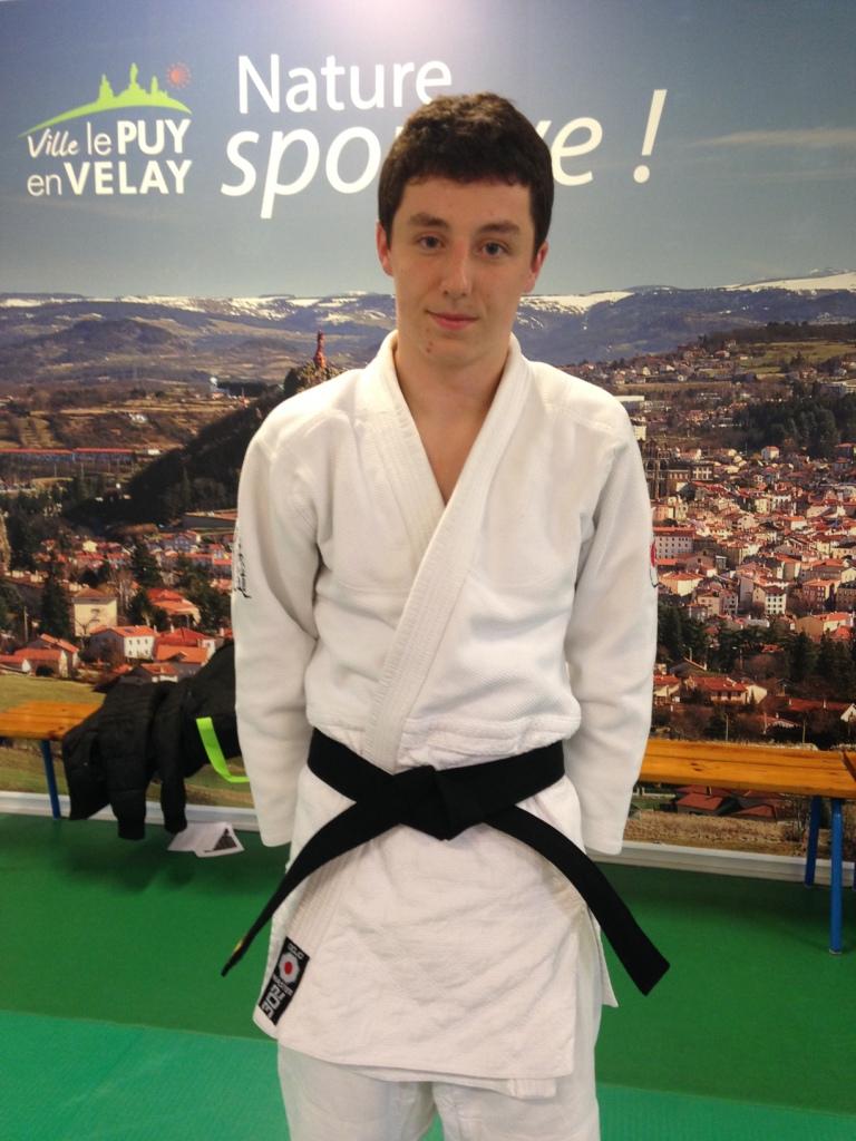 Guillaume ANJARRY ceinture noire Judo