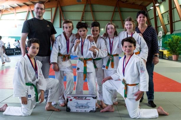 Les jeunes jujitsukas brillants en combat à Bry sur Marne