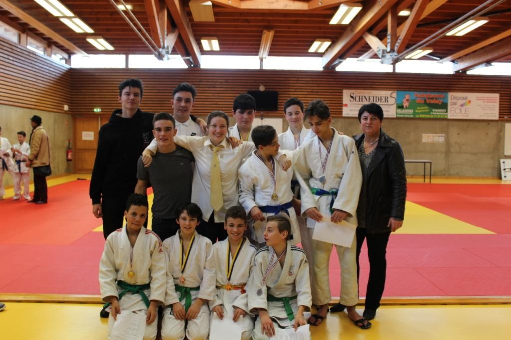 Les judokas en force aux départementaux