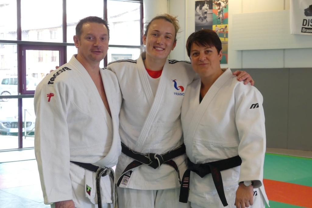 L.VENET avec le responsable régional Jujitsu et l enseignante du club