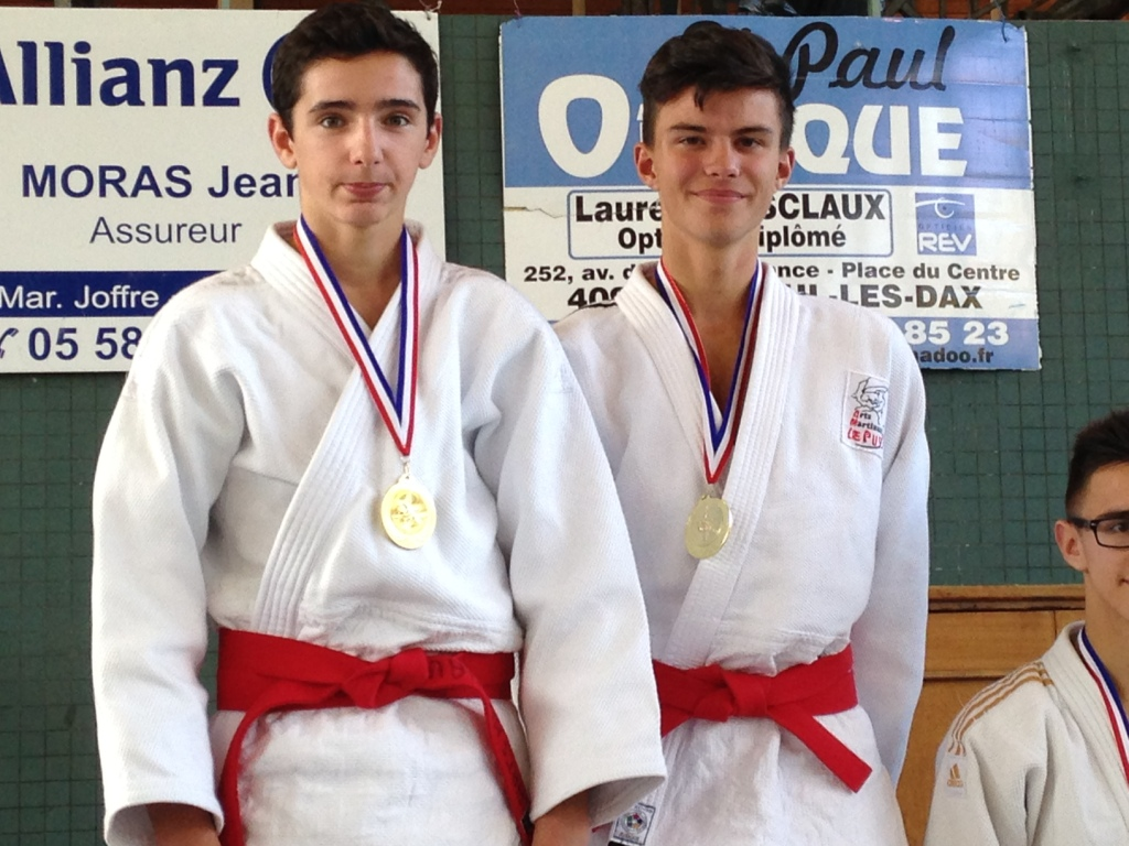 Le duo Callé / Rey en or à l'open national jujitsu de Dax