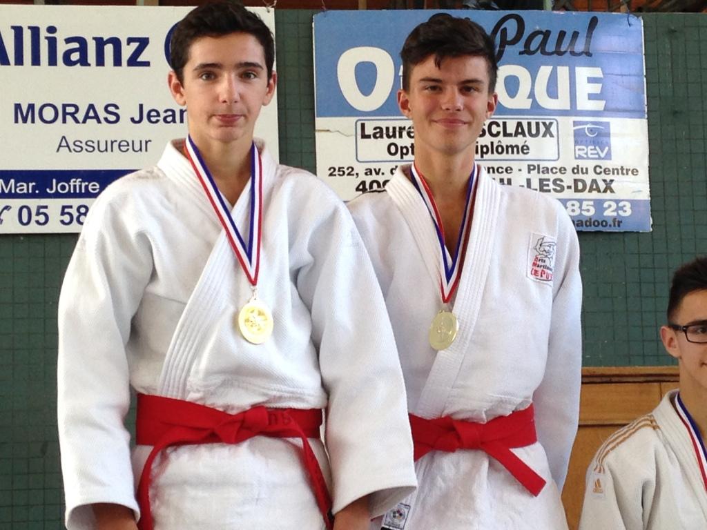 Le duo Callé / Rey en or à l'open national jujitsu de Dax