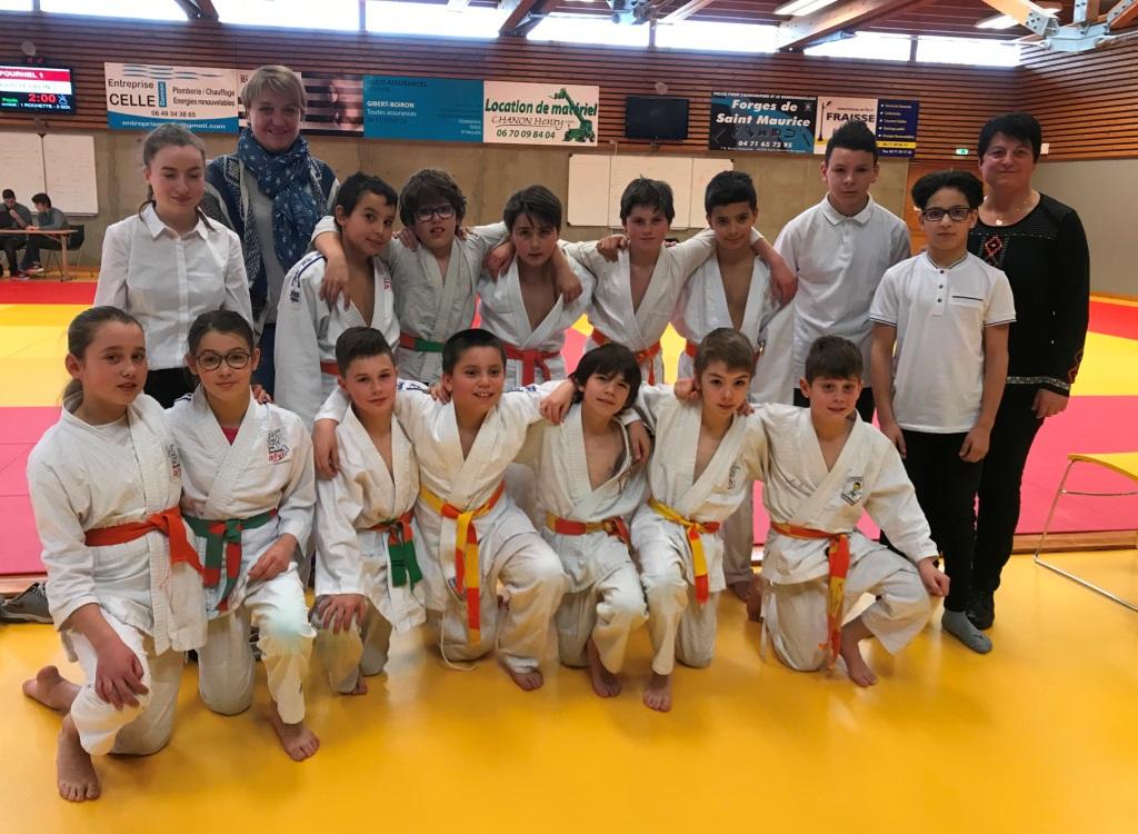 Bons resultats des judokas aux départementaux