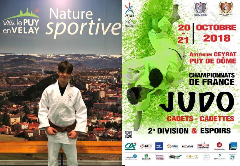 Célian Lille 7è aux championnats de France Judo Espoirs