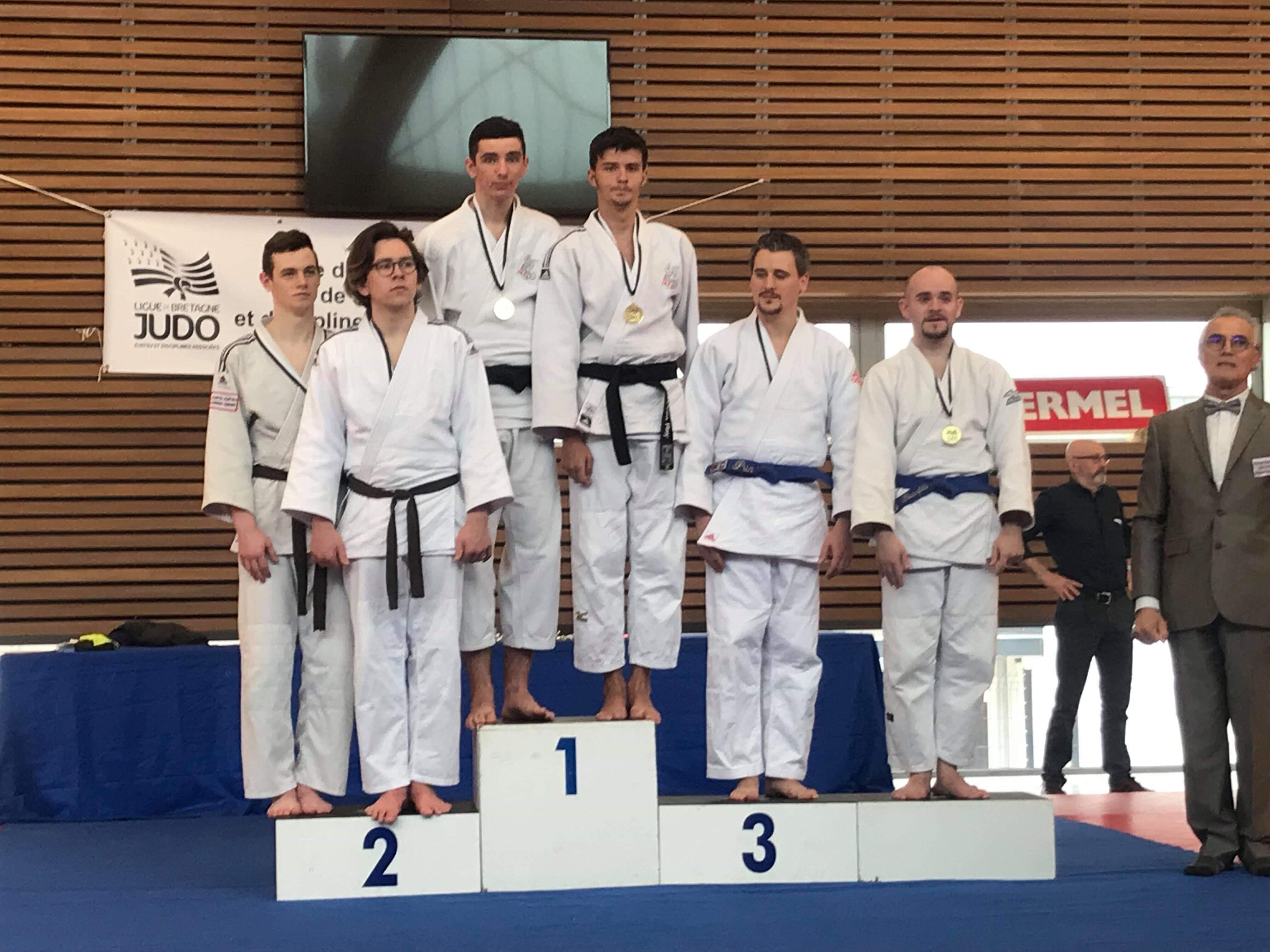 Rémi Callé et Tyliam Rey médaillés d'or à la 1/2 finale Jujitsu