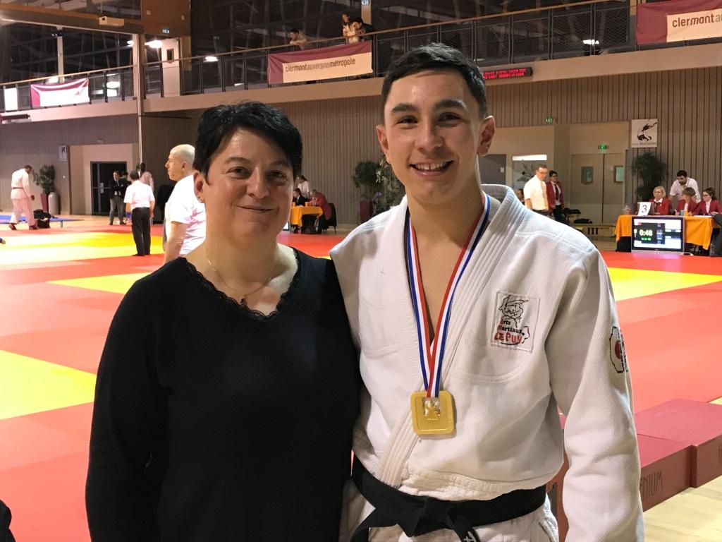 N.Mialon avec Remi Boulamoy double champion de France Combat et Ne waza - Copie