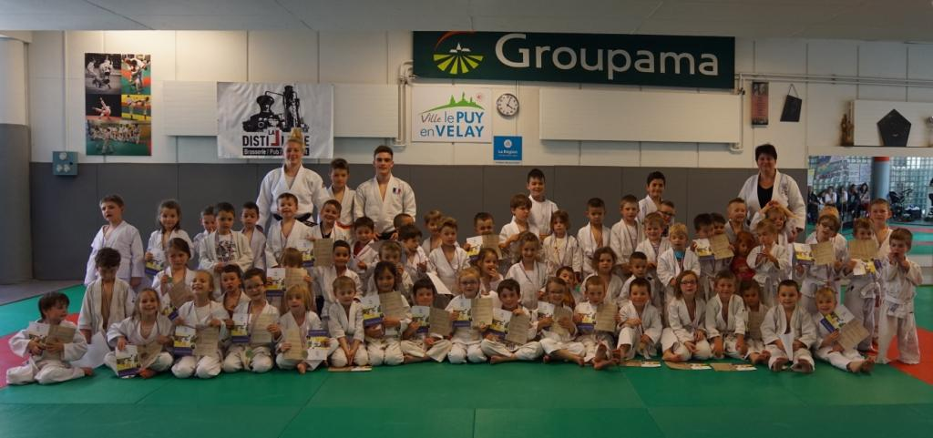 Fin de saison joyeuse pour les baby judo