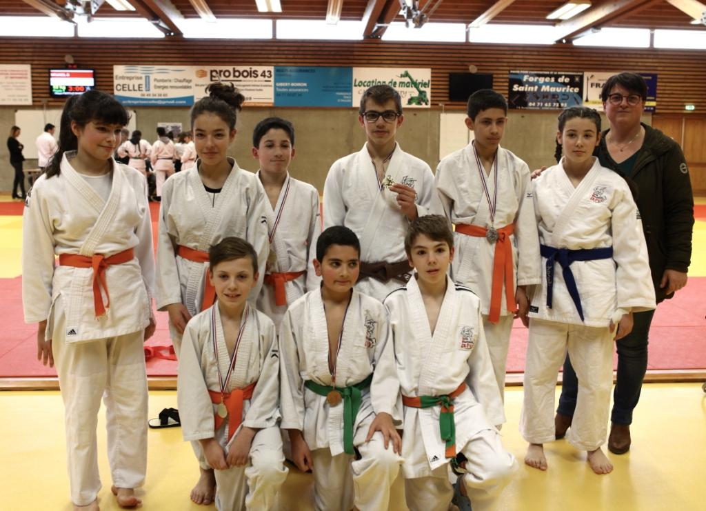 Bons résultats des judokas aux départementaux